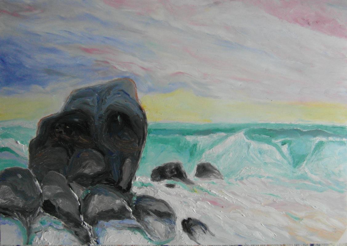 Valery Bronnikov. Thinking stone