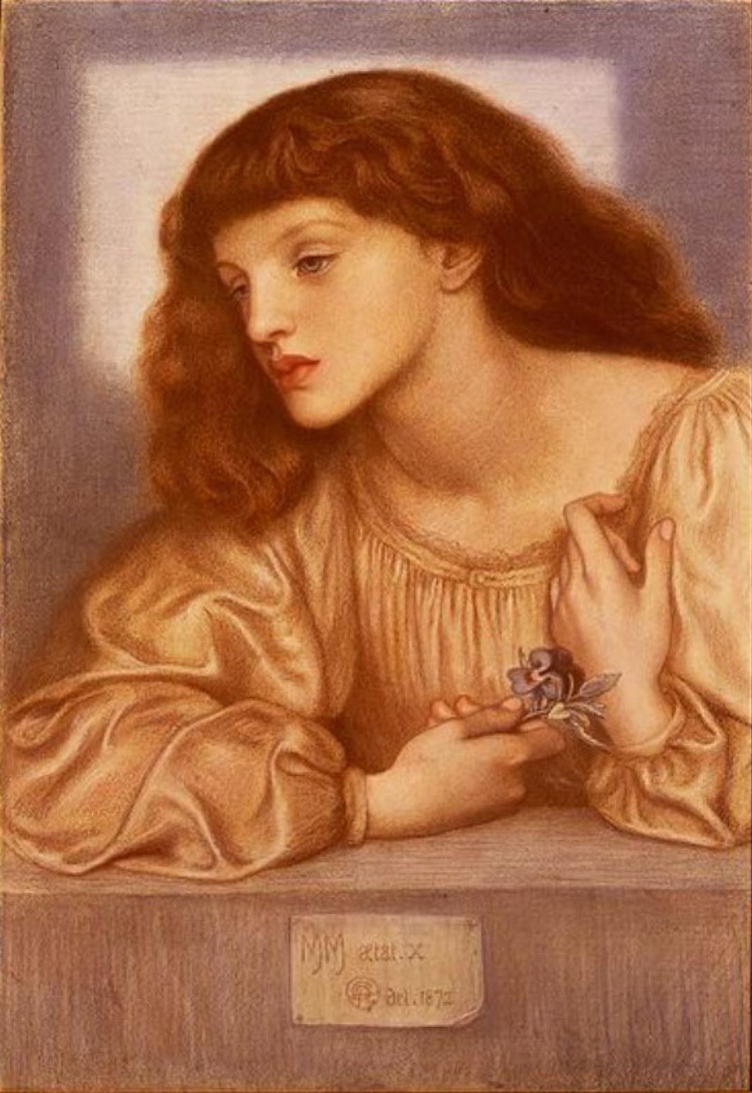 Dante Gabriel Rossetti.  Portrait de Mae Morris