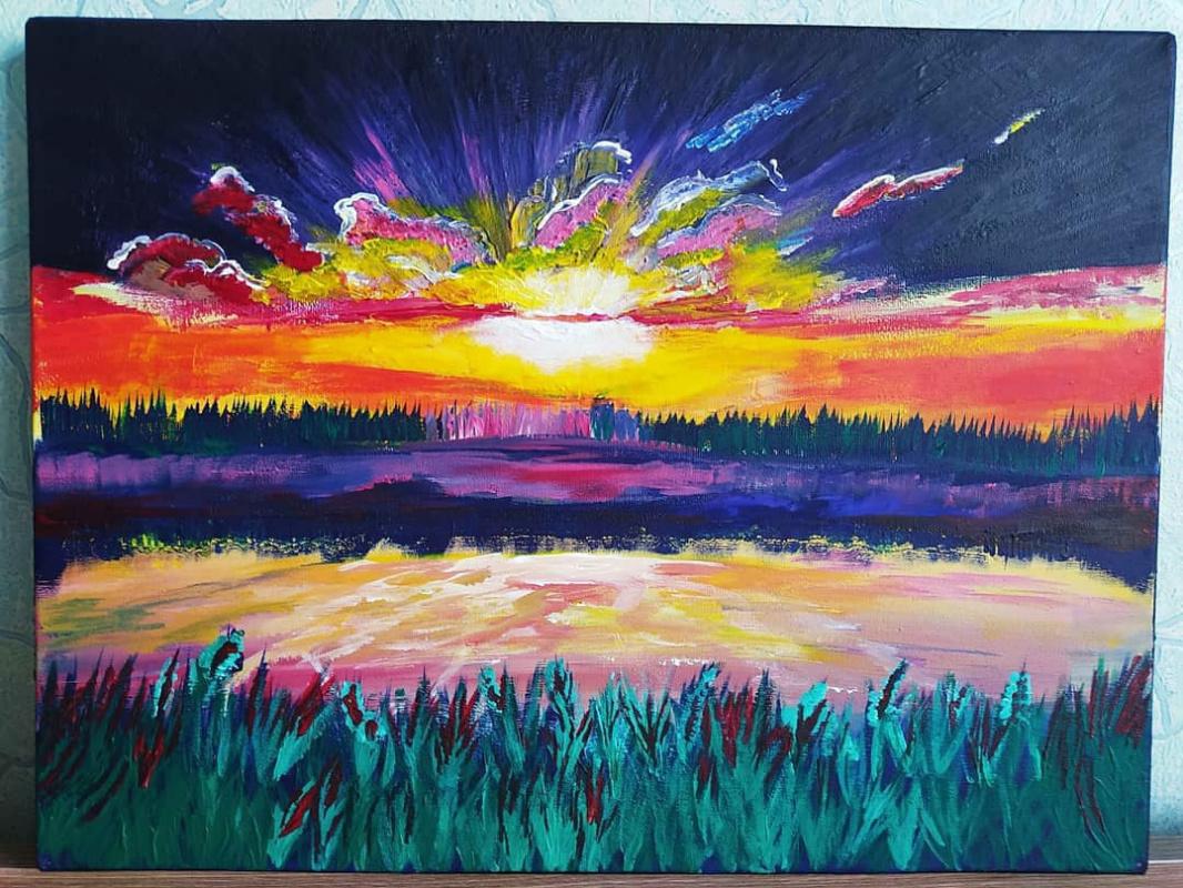 Unknown artist. Sunset