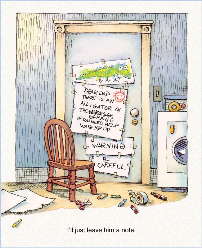 Мерсер Мейер. Иллюстрация к книге Там крокодил под моей кроватью 23