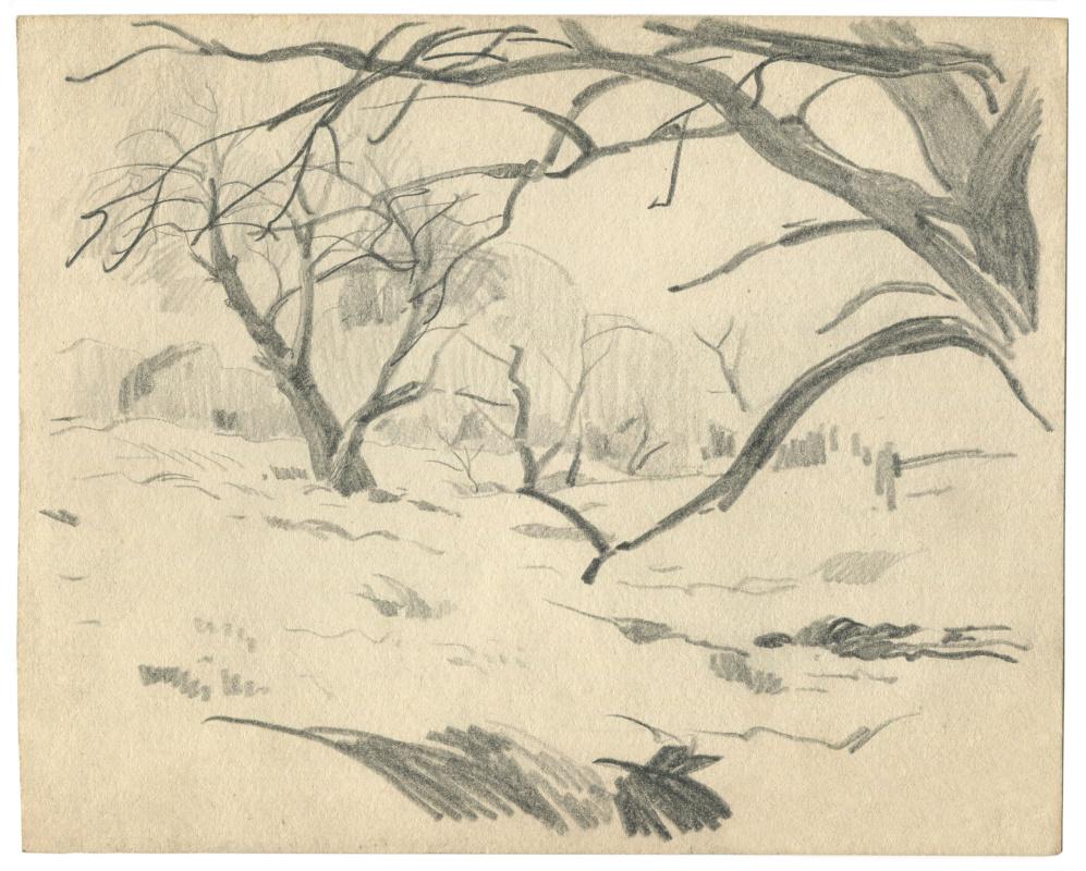 Alexandrovich Rudolf Pavlov. Sketch from nature.