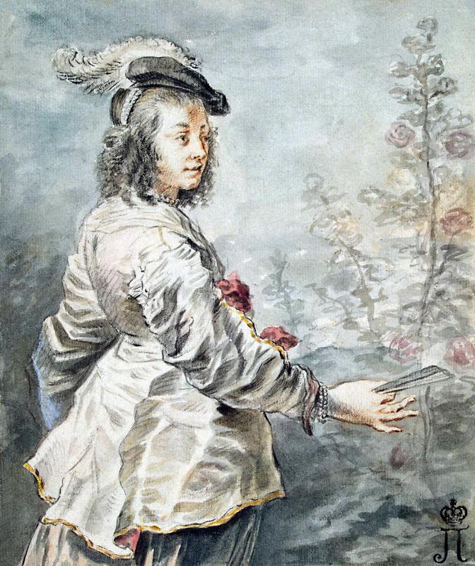 Ян (Лангеян) Букхорст. Молодая дама в берете