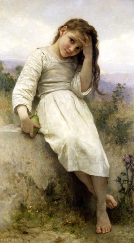 William-Adolphe Bouguereau. Portrait of a girl
