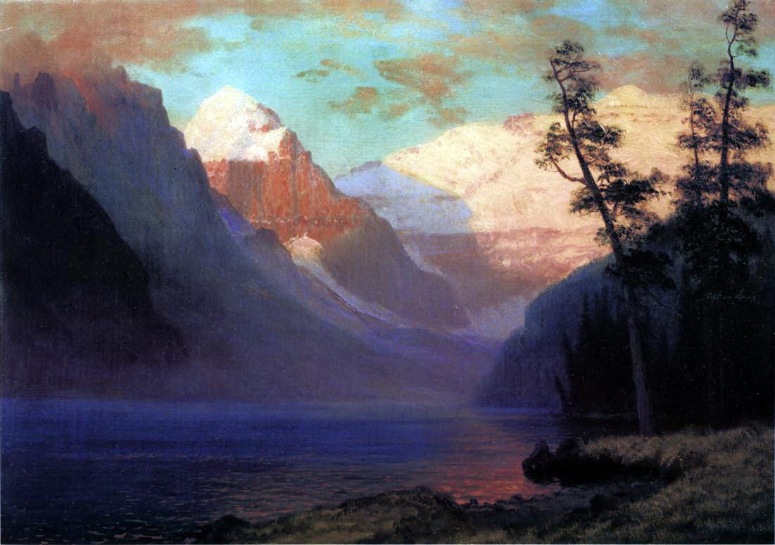 Альберт Бирштадт. Вечернее свечение озера Луиз