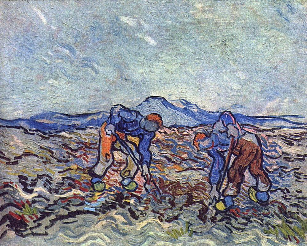 Винсент Ван Гог. Фермеры, убирающие картофель