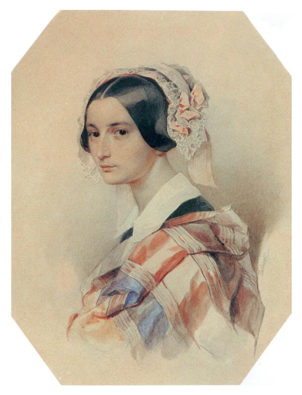 Peter Fedorovich Sokolov. Portrait Of A. O. Smirnova-Rosset