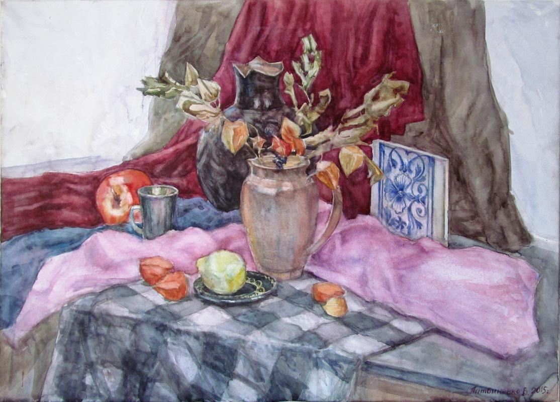 """Vladislav Litvinenko. """"Still life with ceramic tiles"""""""