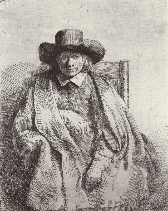Rembrandt Harmenszoon van Rijn. Portrait of Clement de Yonge