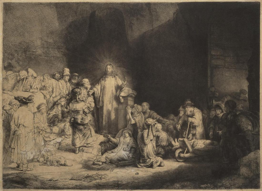 Рембрандт Ван Рейн. Христос, исцеляющий больных