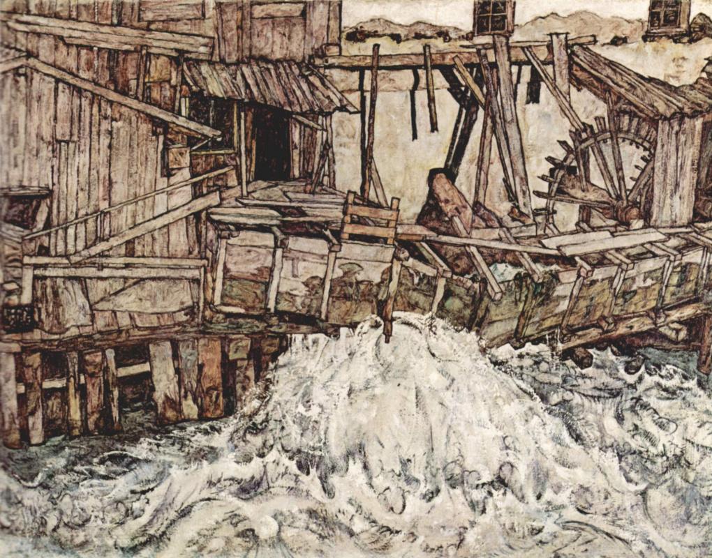 Egon Schiele. Old mill