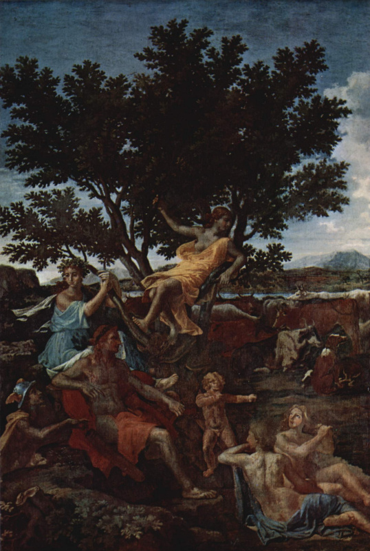 Nicola Poussin. Apollo and Daphne