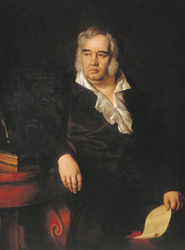 Иван Егорович Эггинк. Портрет баснописца И.А. Крылова. 1834