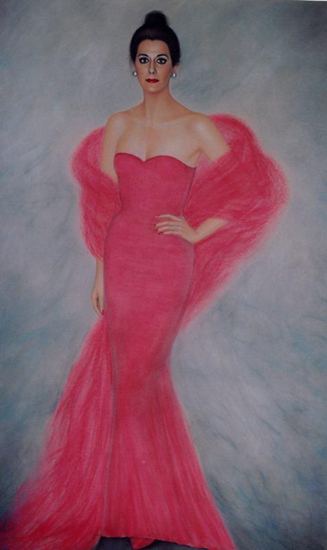 Рикардо Асенсио. Девушка в красном платье