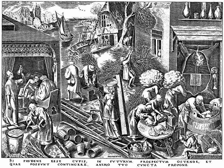 "Pieter Bruegel The Elder. The series ""the Seven virtues"". Prudence, wisdom"