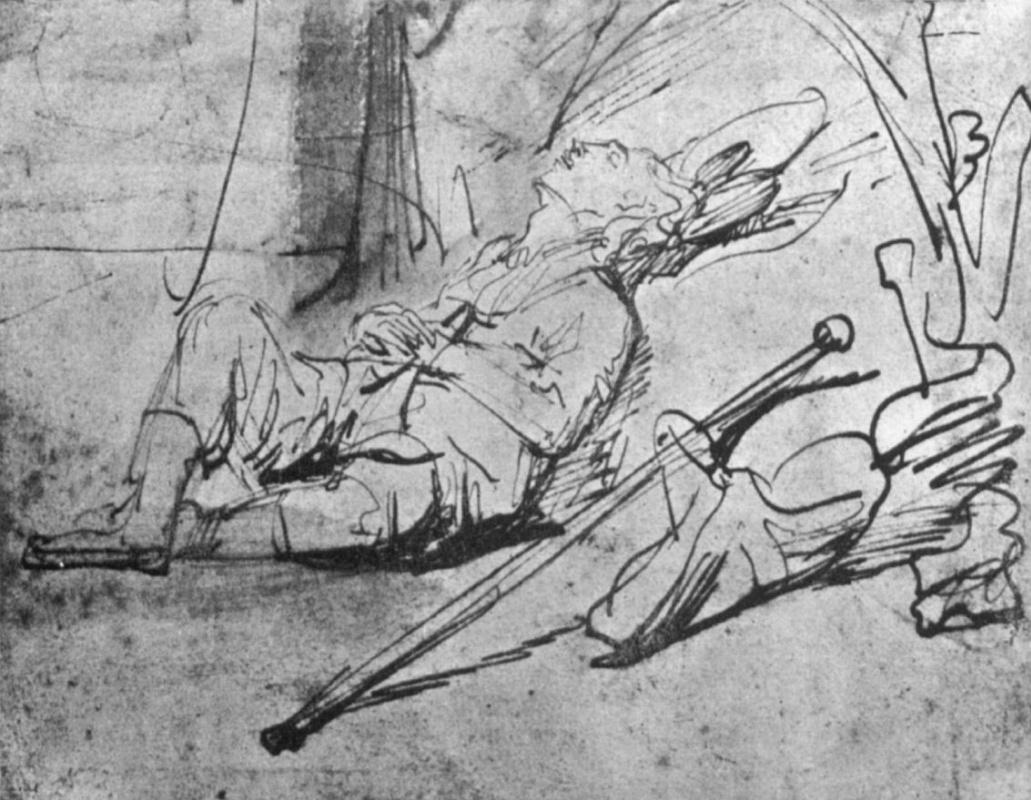 Рембрандт Харменс ван Рейн. Спящий Иаков