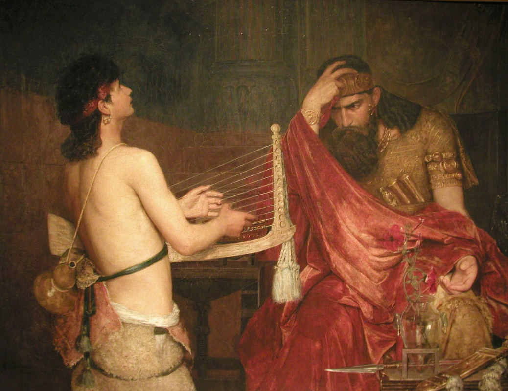 Yousefson Ernst. Saul hears the music of David