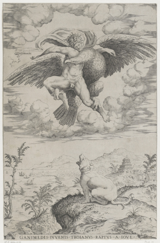 Nicolas Beatrizet. The Abduction Of Ganymede