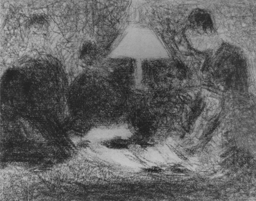 Georges Seurat. Family night
