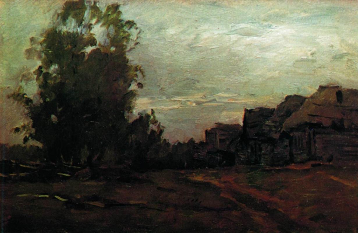 Исаак Ильич Левитан. Деревня. Сумерки