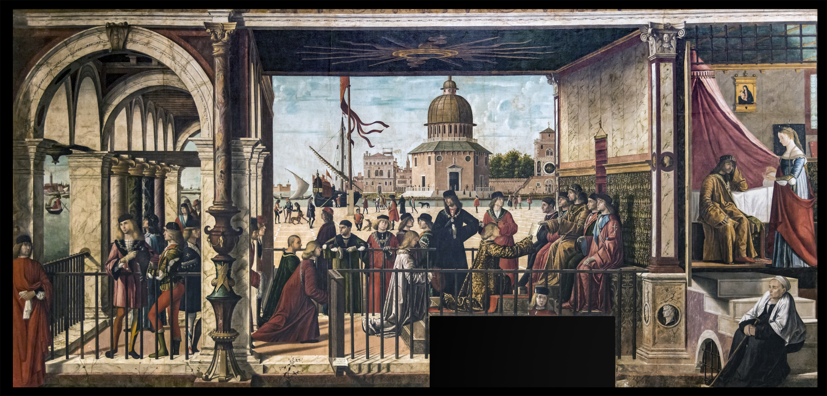 Vittore Carpaccio. The life of Saint Ursula. The arrival of the English ambassadors to the king of Brittany