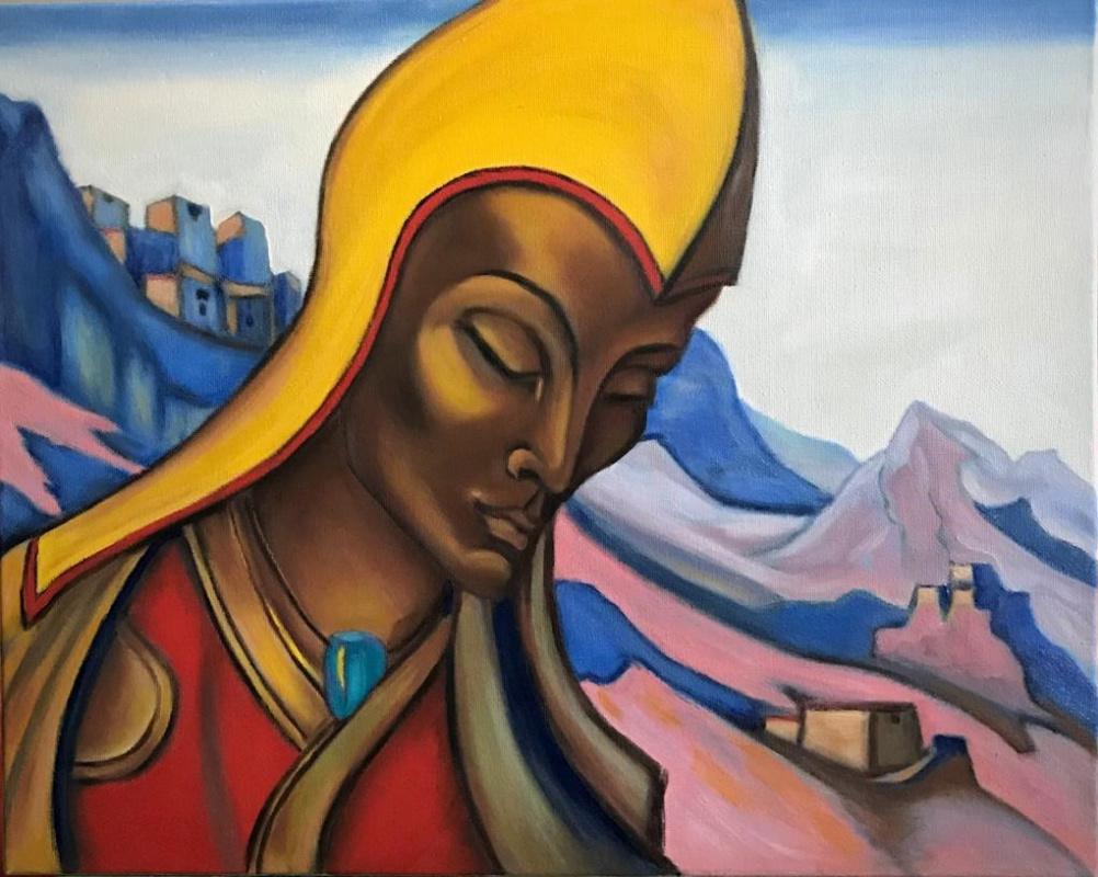"""Inga Kotlyarskaya. Free copy of N. Roerich """"Lama"""""""