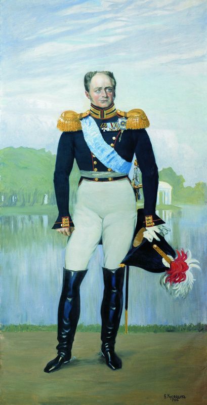 Boris Kustodiev. Alexander I. Panels for the hall of officers ' life guards regiment of Finland in St. Petersburg