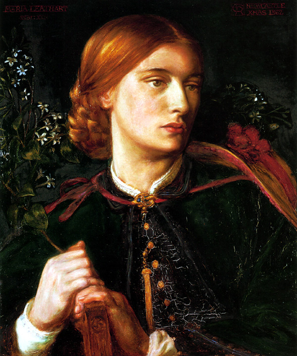 Dante Gabriel Rossetti. Portrait of Mrs James Leather