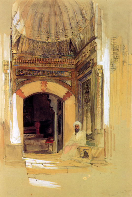 John Frederick Lewis. The entrance to the tomb of Sultan Bayezid