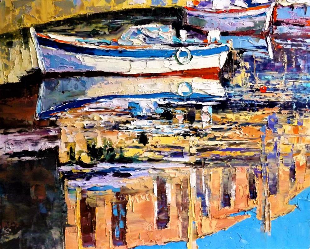 Sergey Yurievich Efremov. Boats reflection