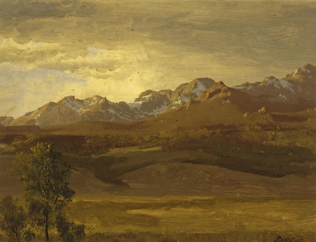 Альберт Бирштадт. Пейзаж с горной цепью