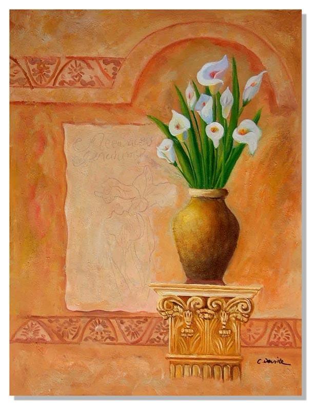 Стиль ар-деко Принт. Цветы в вазе