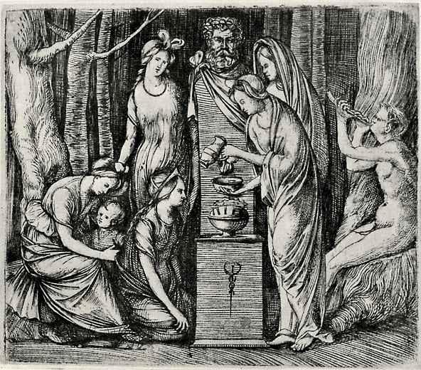 Jacopo de Barbary. The sacrifice in honour of Priapus