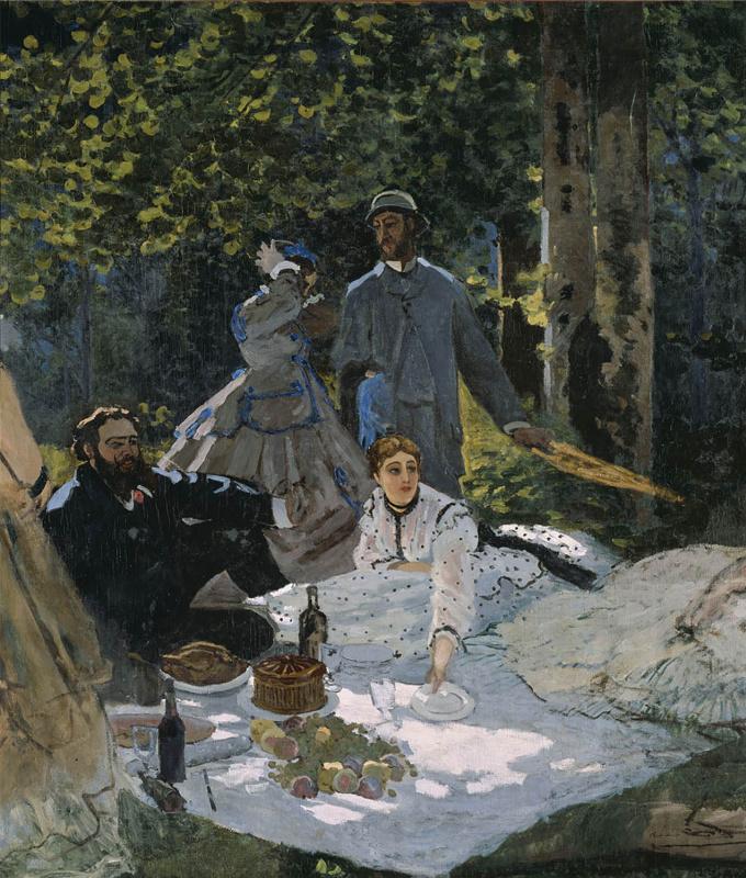 Claude Monet. Luncheon on the grass, detail
