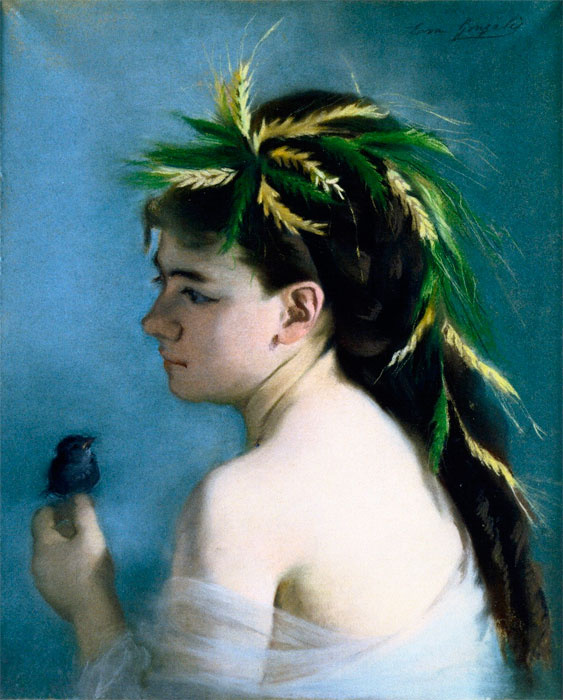 Eva Gonzalez. The Sparrow