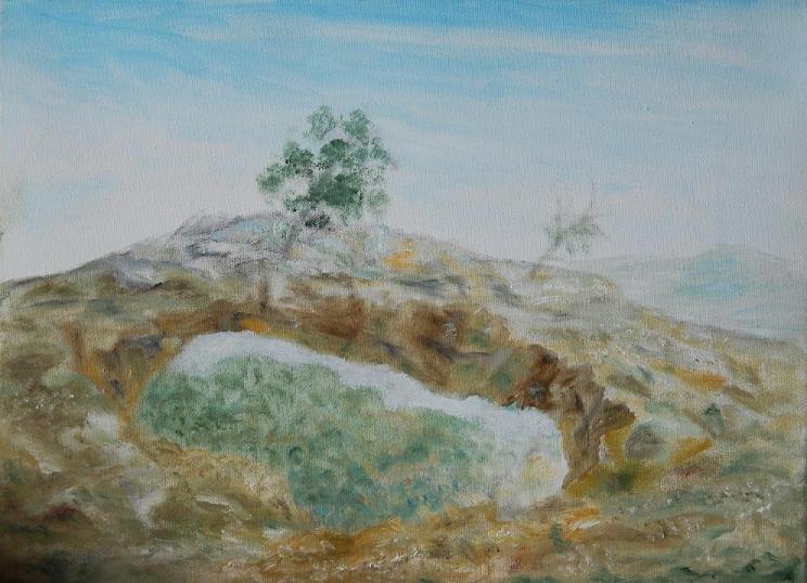 Rita Arkadievna Beckman. In the mountains of Galilee (rainbow)
