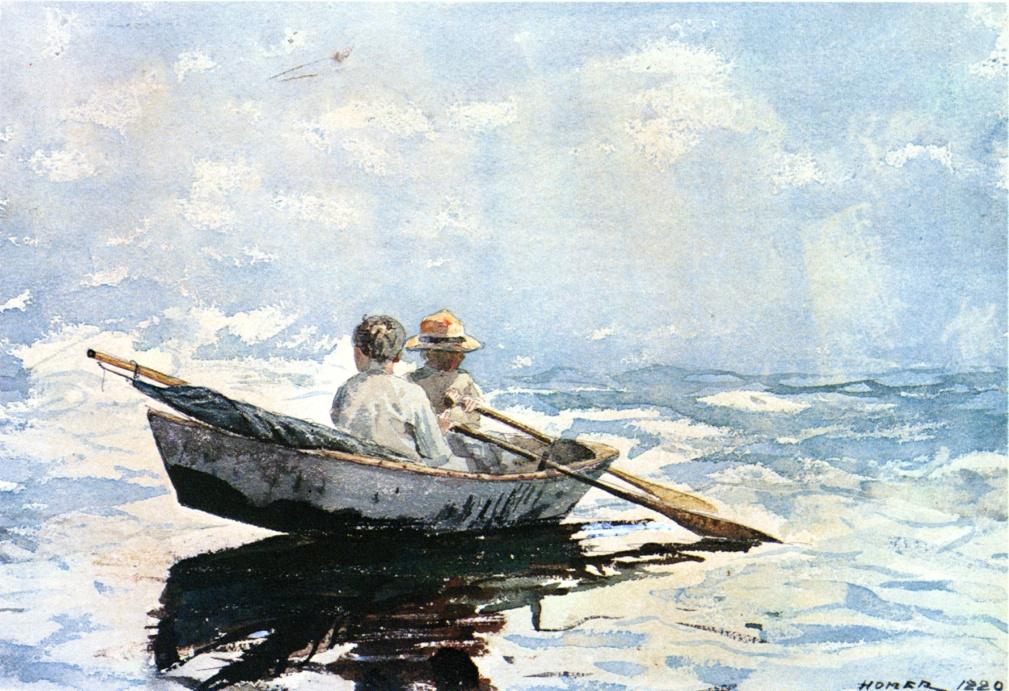 Winslow Homer. Rowing boat