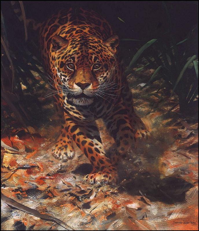 Джон Сирей-Лестер. На поляне ягуар
