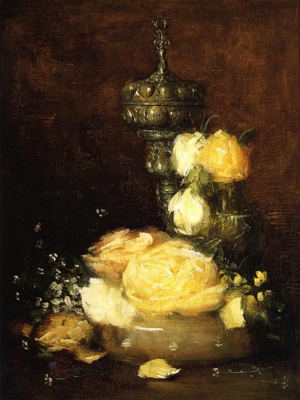 Джулиан Олден Уир. Желтые цветы