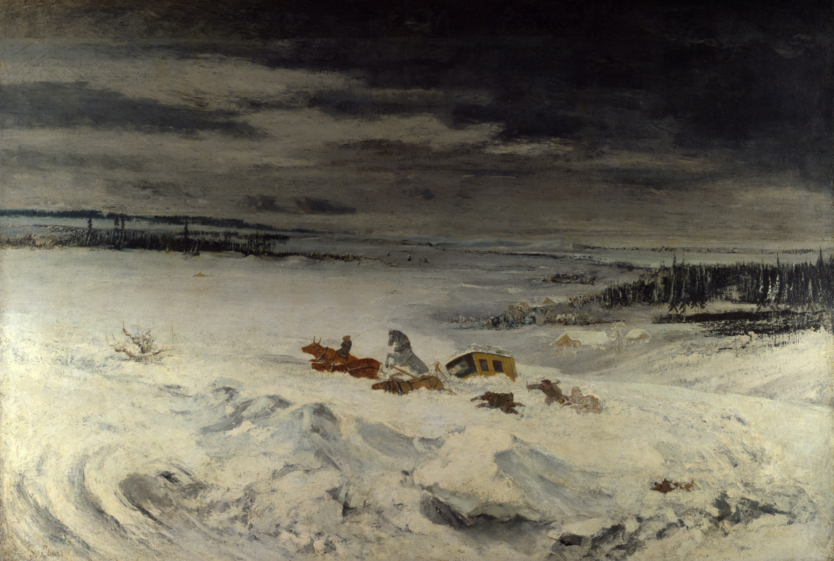Гюстав Курбе. Трудолюбие в снегу