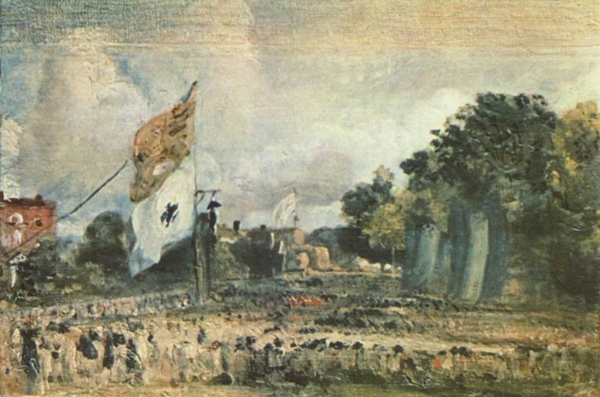 Джон Констебл. Праздник в честь победы при Ватерлоо в Восточном Бергхольте