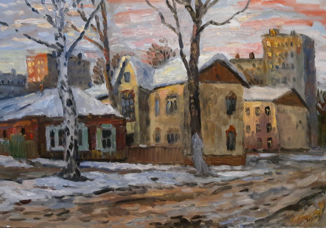 Nikita Tarachev. City evening. Early winter.