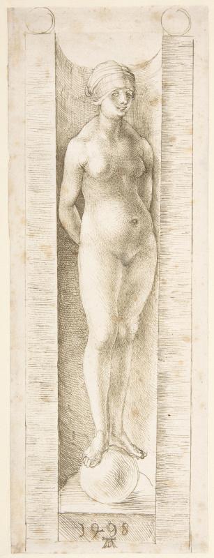 Albrecht Durer. Fortuna in a niche