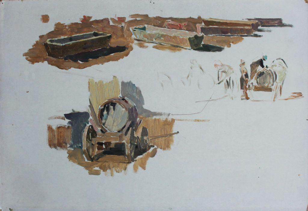 Petr Filippovich Alberti. Sketch for the picture