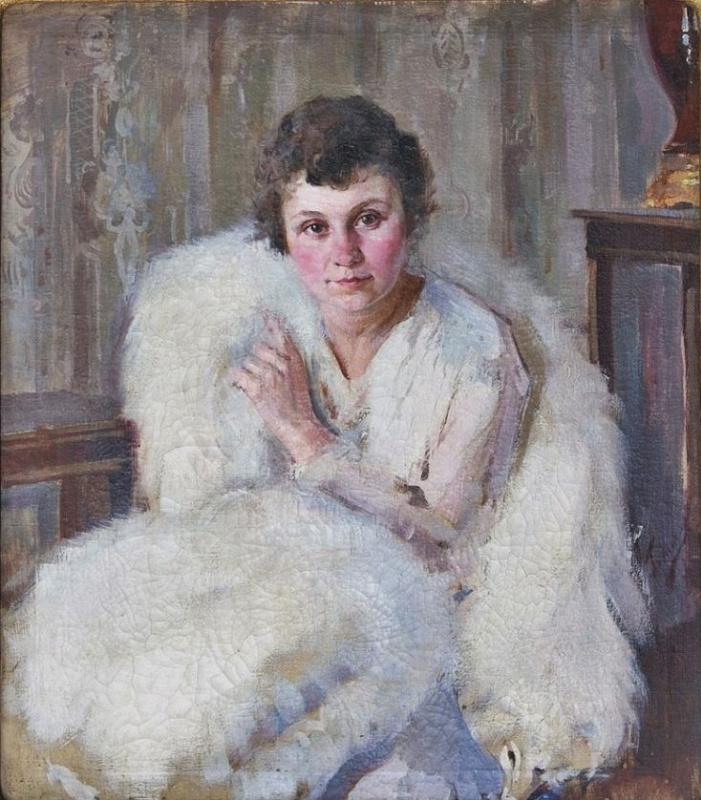 Pavel Petrovich Benkov. Portrait of Natasha Ramm