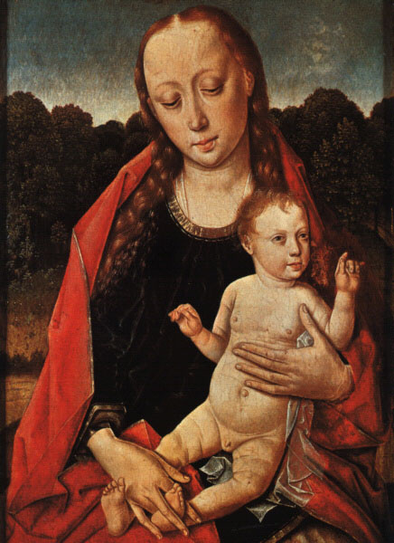 Dirk Bouts. The Madonna and child