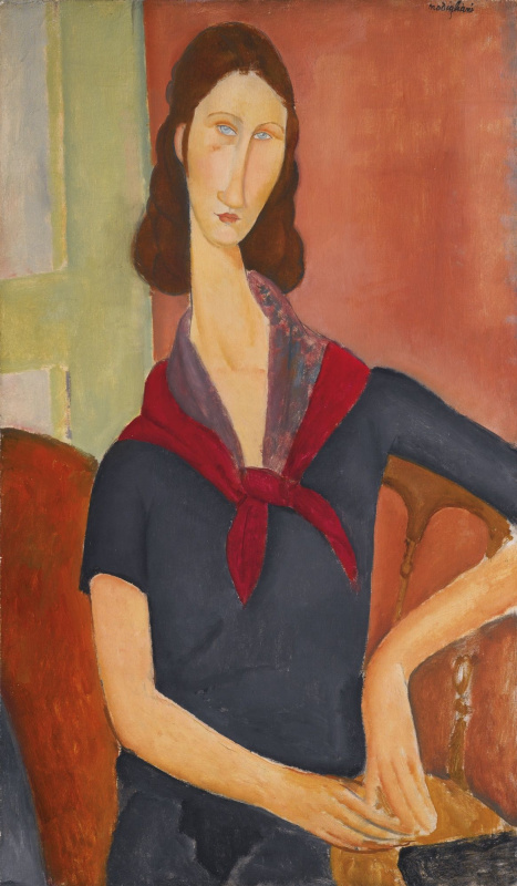 Amedeo Modigliani. Portrait of Jeanne hebuterne (with a scarf)