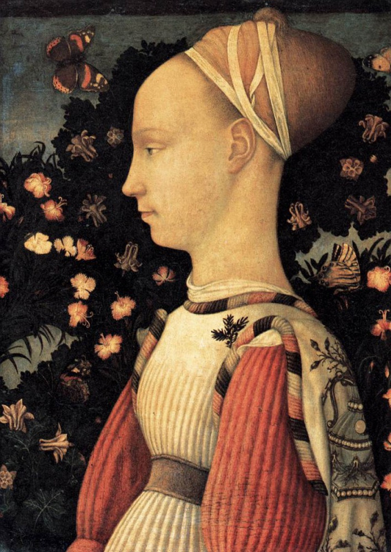 Antonio Pisanello. Portrait of a Princess Ginevra d'este