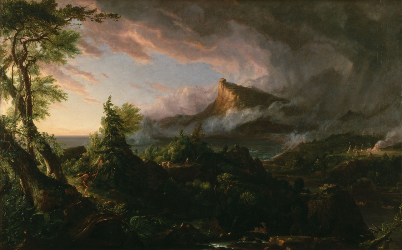 Thomas Cole. The Path Of Empire. Primitive state