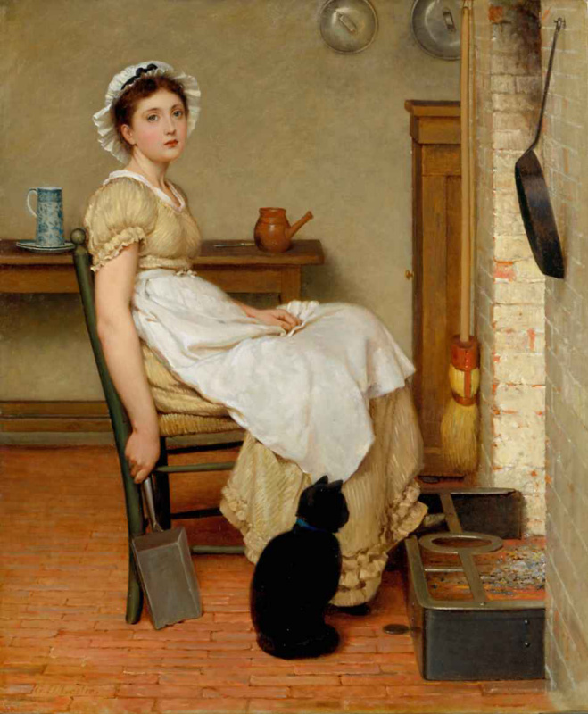 George Dunlop Leslie. At home