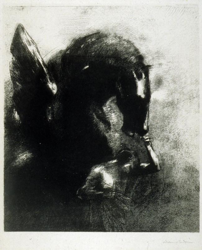 Odilon Redon. The Captive Pegasus